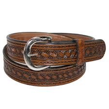 details about new ctm men s leather 1 3 8 inch western belt with removable buckle