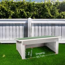 Garage Für Mähroboter Rasenmäher Groß Massivholz Flachdach