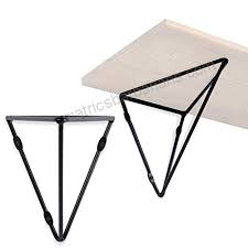 wallniture prismo multipurpose wall mounted prism brackets for floating shelf counter tops diy shelving triangle design