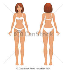 Female Body Template Front And Back