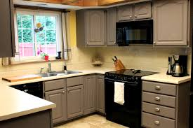 Grey Kitchen Cabinets Yellow Walls Gray White Decoratorist 18384