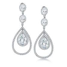 photo 3 of 7 bling jewelry fancy cz triple teardrop chandelier earrings costume jewelry chandelier earrings 3