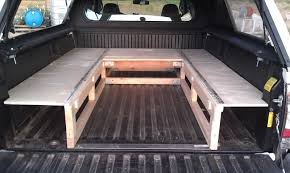 truck bed platform gallery with sleeping travel picture