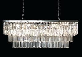 odeon glass fringe rectangular chandelier glass fringe rectangular