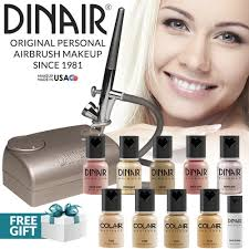 amazon dinair airbrush makeup professional kit fair shades 10pc make up set multi purpose for foundation blush shimmer concealer