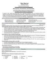 Engineer Resume Objective Mechanical Engineering Resume Objective