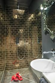 Fired Earth Kitchen Tiles Fired Earth Gold Italian Tiles 40cm Shower Head Infinity Mirrors