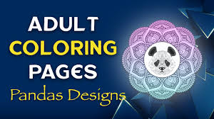 Our free coloring pages for adults and kids, range from star wars to mickey mouse. Adult Coloring Pages Panda Designs Free Printable Sheets
