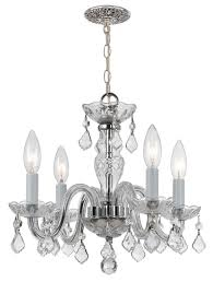 crystorama 4 light clear italian crystal chrome mini chandelier i