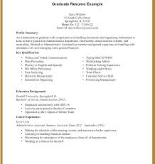 Resume Examples For College Students With Little Experience New College Graduate Resume Examples Sample Resume For A College Student