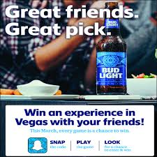 March Madness Bud Light Win A Trip To Vegas With Bud Light Marchmadness Beer