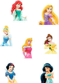 Disney Princess Cake Topper Sheet A4 Edible Printed Iced Sheet Not