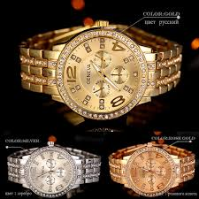 geneva macey womens gold stainless steel strap watch set of 2 image