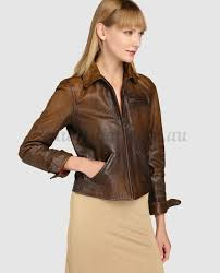 ralph lauren polo leather jacket in brown 214938