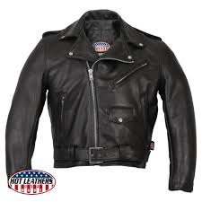 hot leathers men s usa made premium leather classic motorcycle jacket