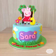 12 Cute Peppa Pig Birthday Cake Designs Recommendmy Living
