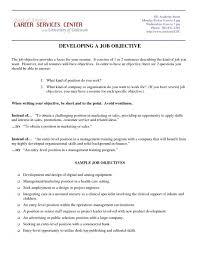 Marketing Objective Resume Resume Sample