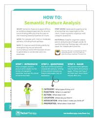 Semantic Feature Analysis Sfa For Anomia In Aphasia How
