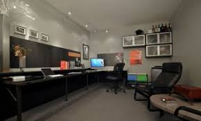 office in garage. Today\u0027s Featured Workspace Is A From-the-ground-up Conversion Of Garage Into An Awesome Home Office Complete With Custom Polished Steel Desk, In R
