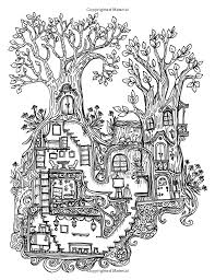A Coloring Book For Adults And Children Secret Village Extra