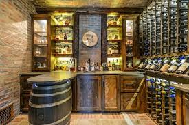 56 rustic wine barrel stave ceiling fan bar rack and cellar