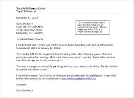 sample reference letter format
