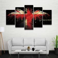 5 panels printed eagle uk flag painting on canvas artistic picture for wall art living room on poster wall art uk with 5 panels printed eagle uk flag painting on canvas artistic picture