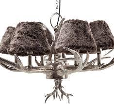 funky huntsman silver antler chandelier image 2