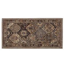 patchwork medallion grey 2 ft x 4 ft area rug