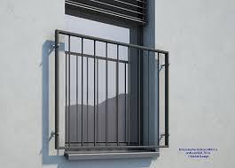Französischer Balkon Pulverbeschichtet Md01a Anthrazit Ral7016 In