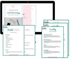 Social Media Plan Template Awesome Social Media Template Bundle Content Planner Etsy