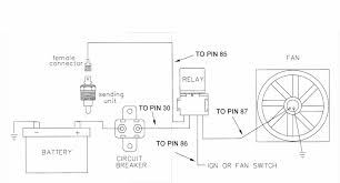 figure 1 wiring diagram shown below shows how to wire a relay to actuate a cooling fan ensure the sender you use is actually a switch on or off and