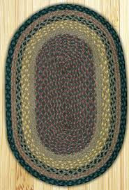 brown black and charcoal oval jute rug 27 x 45 inch