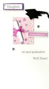 Congratulations For Graduation Congratulations Daughter Graduation Greeting Card Hand Finished