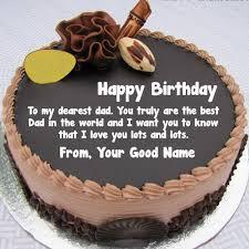 Write My Name Papa Birthday Wishes Cake Images Edit Photo