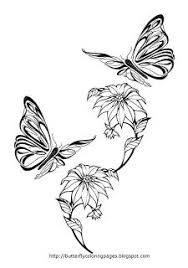 Pictures Of Flowers And Butterflies To Color Coloring Page Butterfly