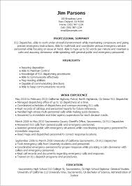 Resume Templates: 911 Dispatcher
