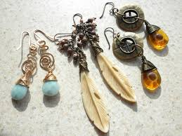 wire wrapped feather bone pendants ite briolettes with bronze wire and czech glass