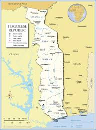 administrative map of togo (togolese republic)  nations online