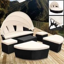 details zu sonneninsel poly rattan lounge sitzgruppe gartenliege sonnenliege gartenlounge