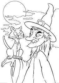 Halloween Witch Coloring Pages Printable Free Coloring Pages Witch
