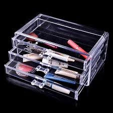 makeup cosmetics transpa 3 drawers storage box