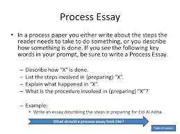 by anita j ghajar selim ppt what should a process essay look like