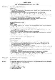 cashier experience cashier supervisor resume samples velvet jobs