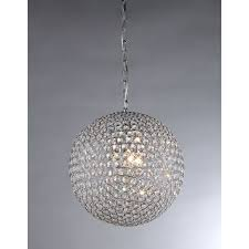 simple crystal ball pendant light. Bring A Touch Of Drama And Glamour To Your Home Decor With This Gleaming Chrome Chandelier. Sphere Round-cut Crystals Shimmers Around Four Lights, Simple Crystal Ball Pendant Light W