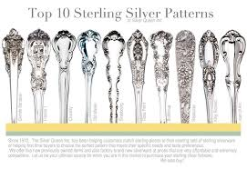 Silver Plate Pattern Chart Photos Of Silverware Patterns Sterling Silver Flatware