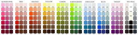 Rembrandt Pastel Color Chart Colour Charts Artists In Pastel
