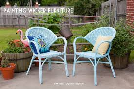 painting wicker furniture happy together