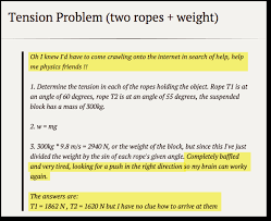 tension problems physics exam problem solution phyzzle tension problems image 1