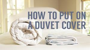 in cover how to put on a duvet cover in seconds youtube